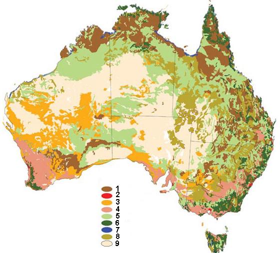 Карты растительности Австралии